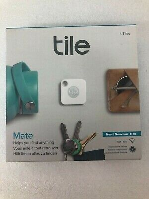 Tile Mate Tracker 4-pack (2018 Model) (White/Gray) NEW