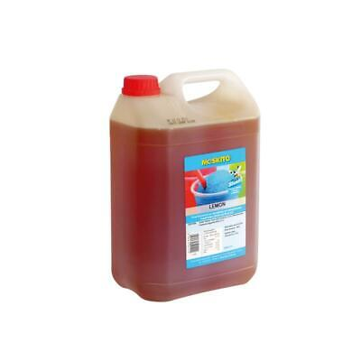 Moskito Slush Syrup Concentrate Lemon Light Yellow 1:5 5 Litre Canister - Azo