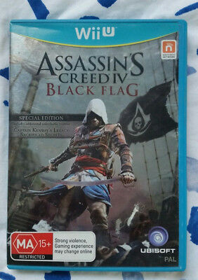 Assassin's Creed IV: Black Flag Nintendo Wii U Replacement Case Cover - NO GAME