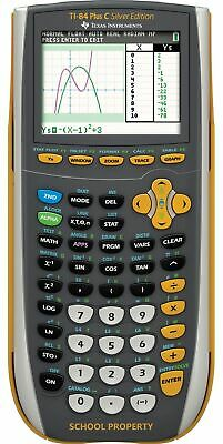 Texas Instruments TI-84 Plus C Silver Edition Calculator w/ Color Screen -YELLOW