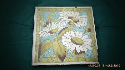 Fireplace  Floral Print Tile By William Godwin