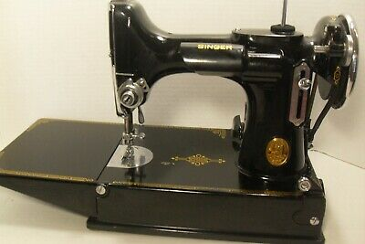 Vintage Singer Featherweight 221-1 Sewing Machine With Case Working 1935 Rare