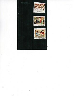 CANADA 1984  CHRISTMAS STAMPS  set 3  #1040-42  used  BK 451