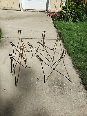 VintageLightning Rod Stand Tripod Base For Rod & Ball Holder 5 Small Pieces