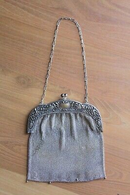 Antique/Vintage Alpacca Silver Chain Mail Purse