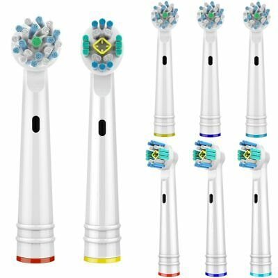 8 Cross Function and 3D PRO White Replacement Toothbrush Heads for Oral B Range