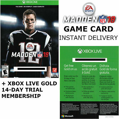 Madden NFL 18 (Xbox One) + 14-day Xbox Live Gold Membership (INSTANT DELIVERY)