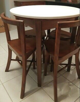 Antique Soda Fountian Table & Chairs