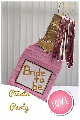 Champagne Piñata Decoration Hen Adults Party Bachelors Bride Birthday 18 21st 30