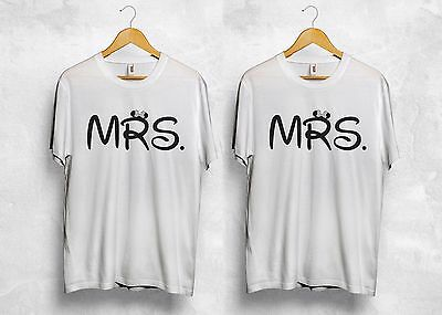 Mrs Mr T Shirt Disney Matching Couple Boyfriend Girlfriend Wifey Hubby Gift