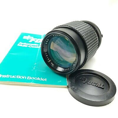 Focal MC Auto 135mm F2.8 Telephoto Lens Caps Minolta Mount For Xd And Xg Models