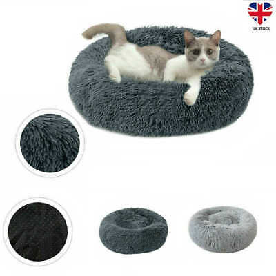 Calming Bed Pet Dog Cat Round Nest Warm Soft Plush Sleeping Bag Comfy And Flufy