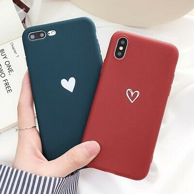 For Silicone Case iPhone X XR XS MAX 6s 8 7 Plus Hybrid Rubber Cute Heart Cover