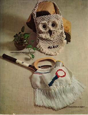 Macrame Patterns owls, bags and necklaces colour copy