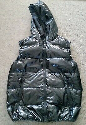 Duvetica black goose down hooded vest size M very good condition