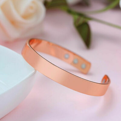 New Magnetic Copper Bracelet Healing Bio Therapy Arthritis Pain Relief Bangle OZ