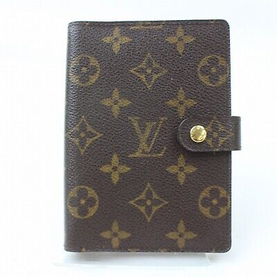 Authentic Louis Vuitton Diary Cover Agenda PM Browns Monogram 806437