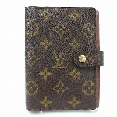 Authentic Louis Vuitton Diary Cover Agenda PM Browns Monogram 116283