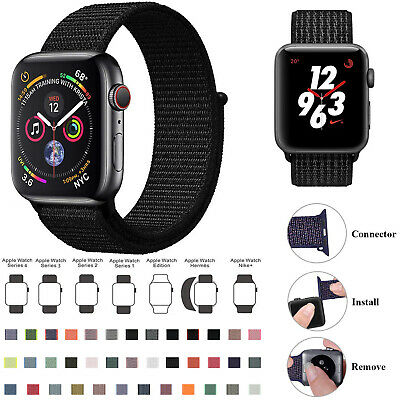 Replacement Woven Nylon Strap Band for Apple Watch Series 5/4/3/2/1 38/42/44/44