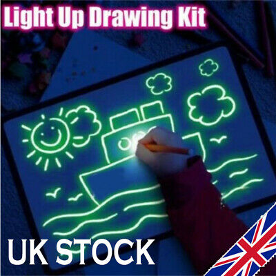Draw With Light Fun And Developing Toy Drawing Board Magic Draw Educational UK +