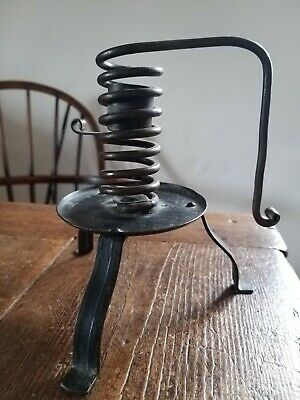 Rare Goberg Hugo Berger Arts And Crafts Wrought iron Candlestick