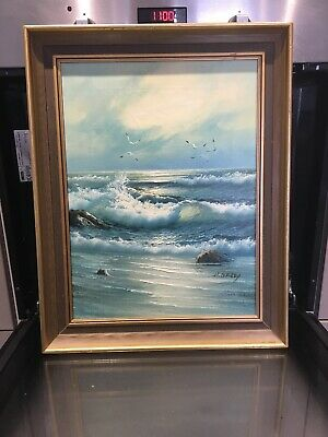 """H Gailey Oil Painting 19""""X 15"""" Framed"""