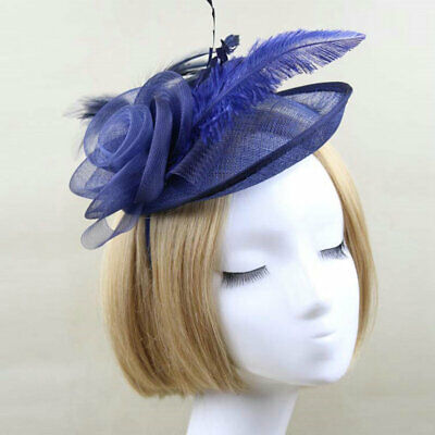 Lady's Day Fascinator Ascot Races Flower Feather Hat Women Hair Clip Cocktail