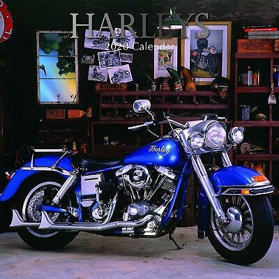 Harleys 2020 - 16 Month Square Wall Calendar