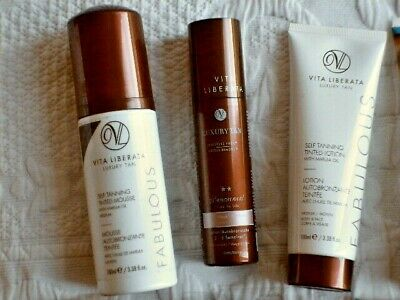VITA LIBERATA SELF TAN pHENOMINAL FABULOUS MOUSSE LOTION MEDIUM ORGANIC VEGAN
