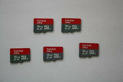 JOB LOT 5 x 16GB SanDisk Class 10 Ultra  Micro SD SDHC Memory CardS UHS-I