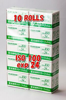 NEW! 10 ROLLS Fujifilm Fujicolor Industrial film ISO 100 35mm 24 EXP 135 JAPAN
