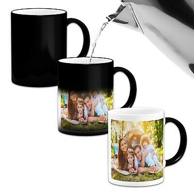 Personalised Heat Colour Changing Gift Magic Mug Image Photo Logo Text Cup