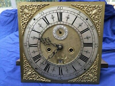 Antique Brass Faced Eight Day Longcase Clock Movement