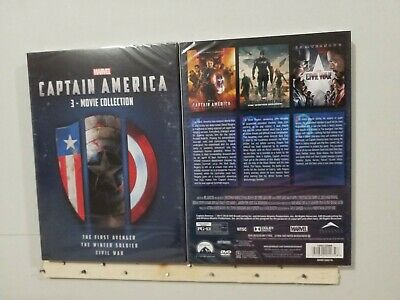CAPTAIN AMERICA 1-3 3-movie Collection Brand New Free Shipping