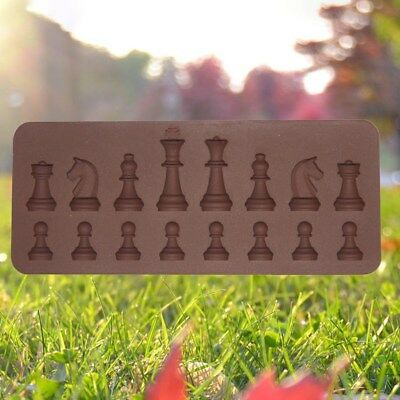 Silicone Chess Shape Non-toxic Non-stick Ice Cube Mold for Chocolate Cake Jelly