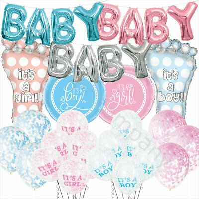 Its a Boy Girl Balloons Latex Foil Baby Shower Decorations Gender Reveal Party