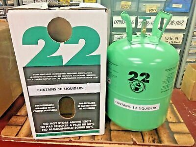 r22 Refrigerant 10lb Cylinder, Virgin Pure (Made in USA) Free Shipping