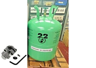 Refrigerant-22, r22 Disposable Cylinder, 10 lb, Virgin R-22, Free Ship, Kit A7