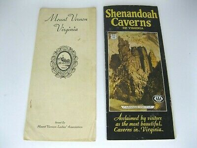 Vintage 1930's State Of Virginia Travel Brochures Mount Vernon, Shenandoah LOT