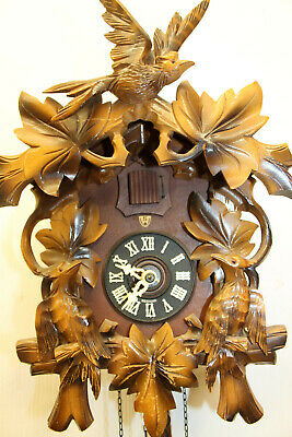 Old Clock Cuckoo Wall Clock Black Forest made in West Germany Regula