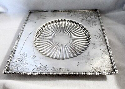 Antique Japanese by Gorham Sterling Silver Cheese Dish & Knife 1880