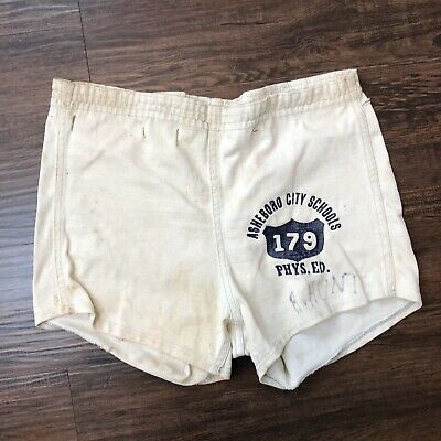 Vintage 50's Russell Physical Education Shorts Sz Small Asheboro North Carolina
