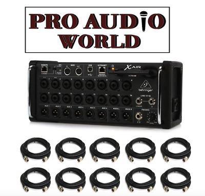 Behringer X Air XR18 18-Input Digital Mixer + PACKAGE DEAL10x FREE  CABLES