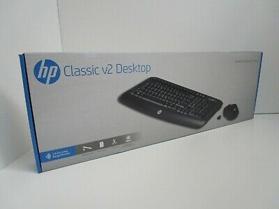 HP - Classic Desktop v2 - Combo Wireless Keyboard and Mouse - Black V4L73AA
