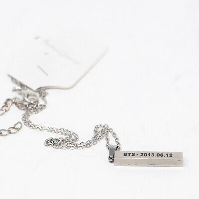 kPOP music goods Bangtan Boys BTS BT21 steel NECKLACE Fashion Jewelry
