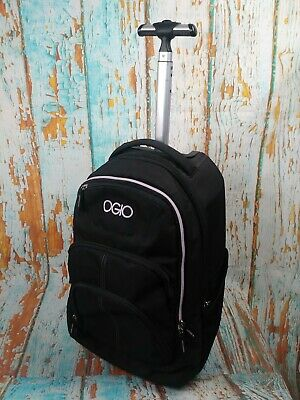 "OGIO Black/Violet Carry on Upright Travel Roller wheeled Bag 20""x15""x10"""