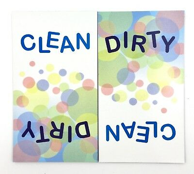 *NEW* Clean Dirty Dishwasher Magnet Flip Sign Waterproof Laundry Office Cleaning