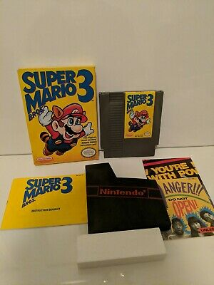 NES SUPER MARIO Bros 3 Complete CIB Tested RARE LEFT BROS!!! ORIGINAL 1st  PRINT