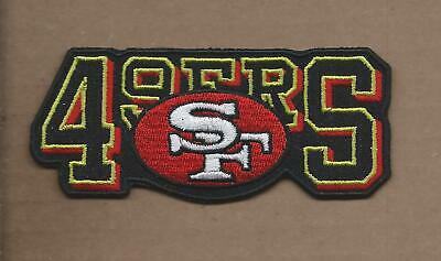 New 1 3/4 X 4 Inch San Francisco 49Ers Iron On Patch Free Shipping P1