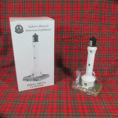 Lefton's Historic American Lighthouse, Point Arena, CA, Mint in Box, 1999